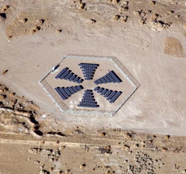 Black Rock solar's hexagonal design is a