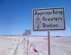 greeters station