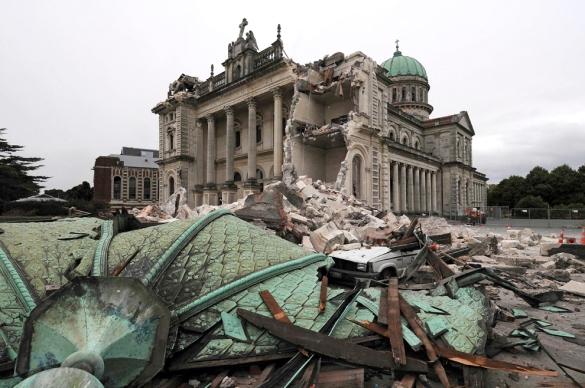 Cathedral of the Blessed Sacrament, Christchurch NZ - Photo: David Wethey/NSPA/AP