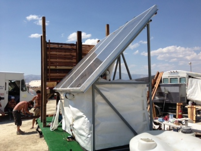 The Sunvelope shower trailer -- PHOTO: Alan Macy