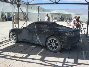 An early Tesla prototype spotted at Burning Man in 2007