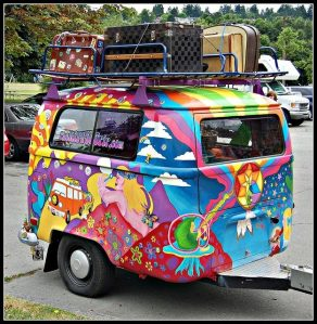 cartoon camper caravan