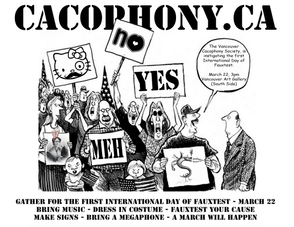 2014 Vancouver Cacophony Society Flyer