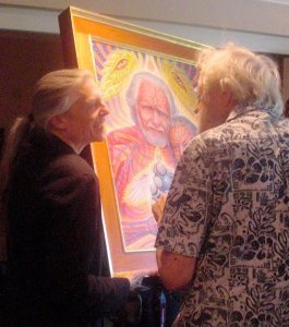 Alex Grey (left) and Sasha Shulgin