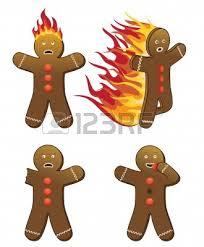burning cookie