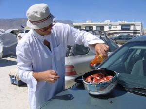 car cooking