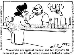 guns and fireworks
