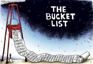 bucket list cartoon