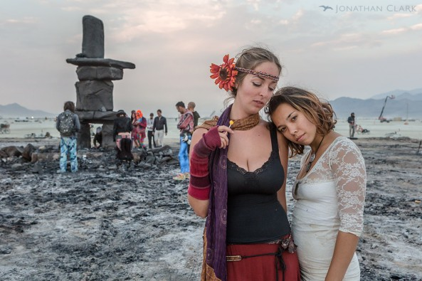 burning-man-2013-cargo-cult-black-rock-city-playa-jonathan-clark-temple-of-whollyness-two-women