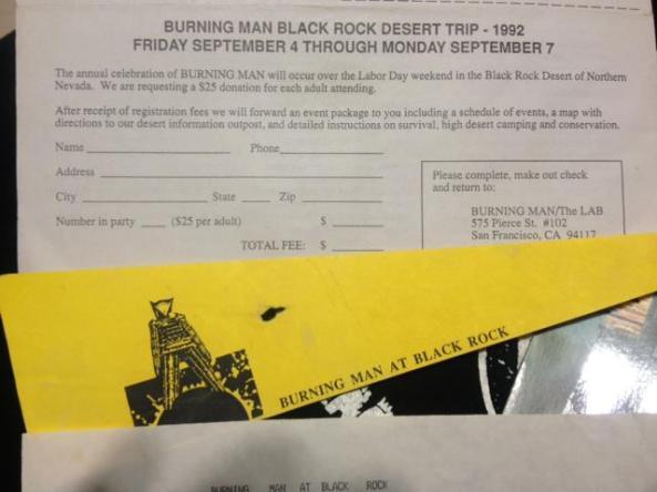 1992 black rock desert trip flyer