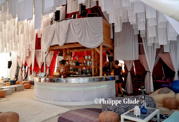 DJ Booth above the bar, Caravancicle. Image: Philippe Glade