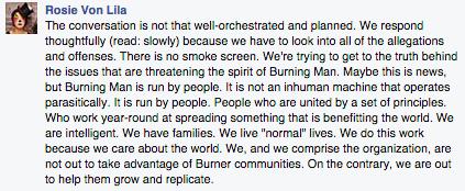 Burning Man Theme Camp Organizers, Facebook Oct 10 2014